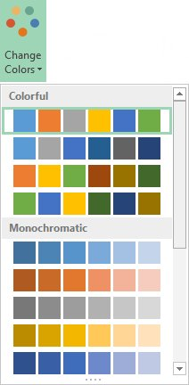 Excel 2013 - Chart - Change colors